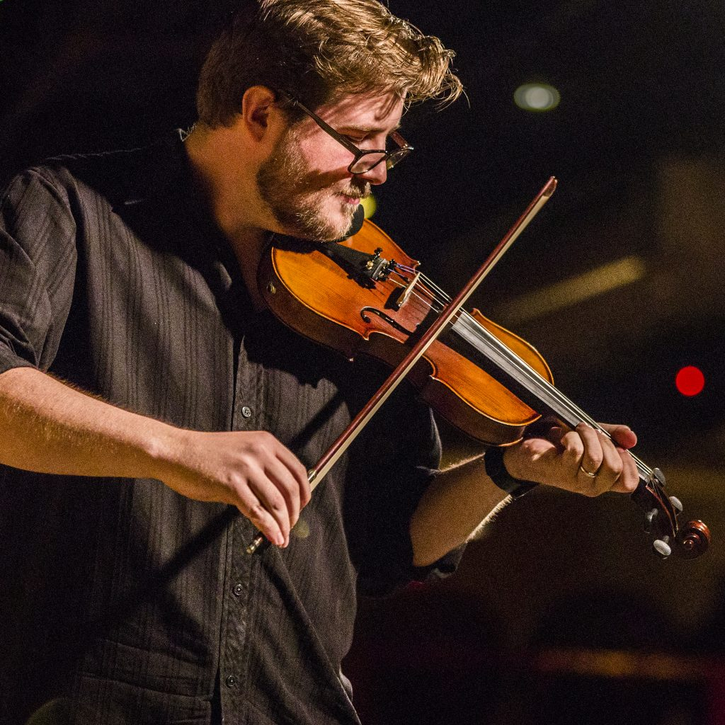 Glen Tickle and his violin Rochester.